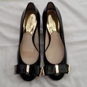 Michael Kors Kiera bow black Leather